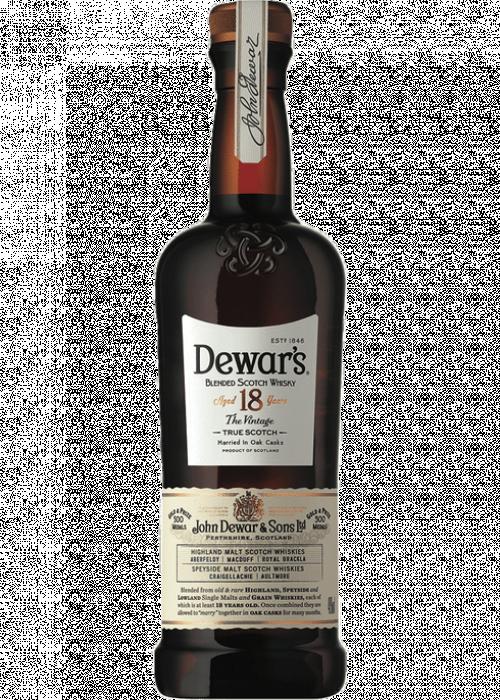 Dewars 18Yr Blended Scotch Whisky 750ml