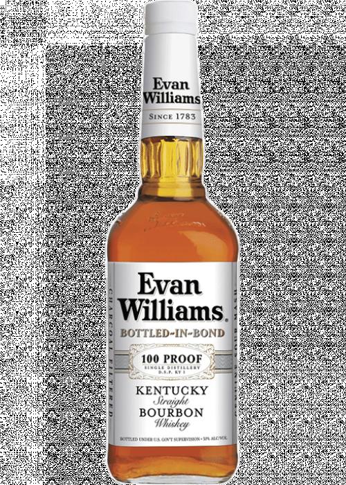 Evan Williams White Label 100 Proof Bottled In Bond Bourbon 1L