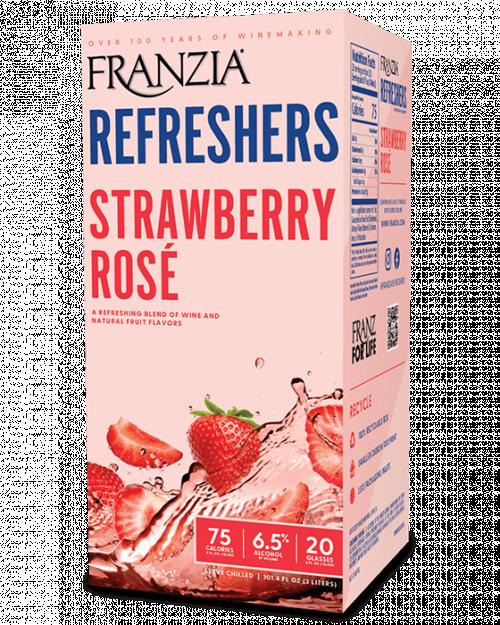 Franzia Refreshers Strawberry Rose 3L Box NV