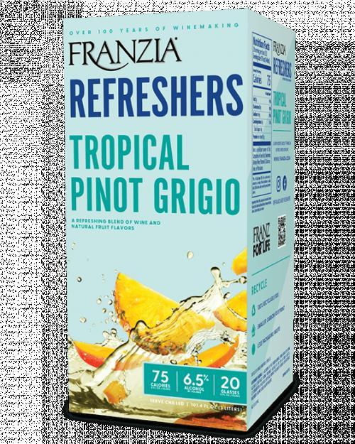 Franzia Refreshers Tropical Pinot Grigio 3L Box NV