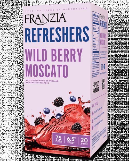 Franzia Refreshers Wild Berry Moscato 3L Box NV