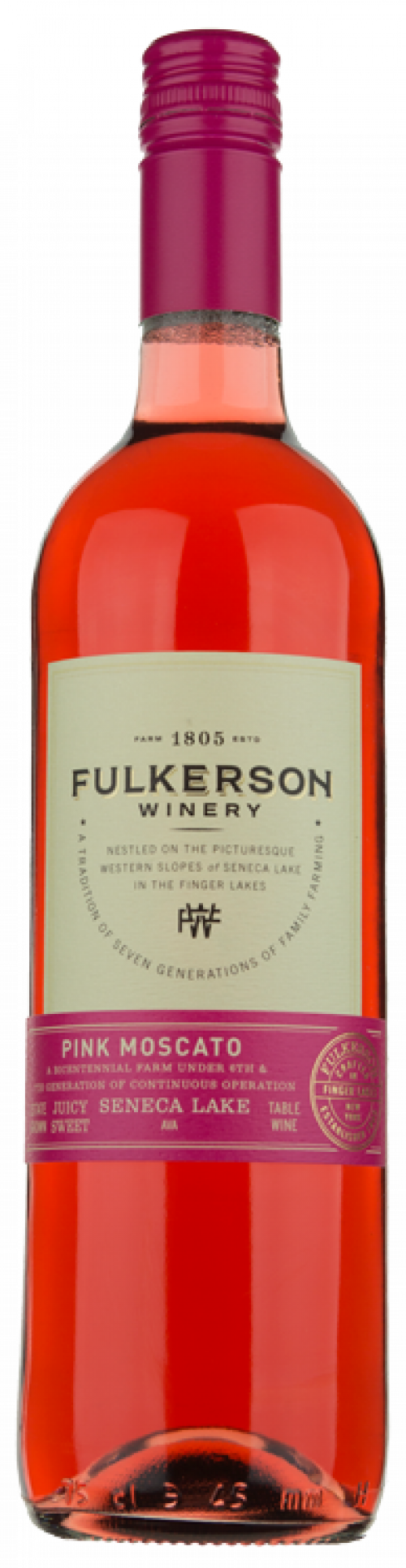 Fulkerson Pink Moscato 750ml NV