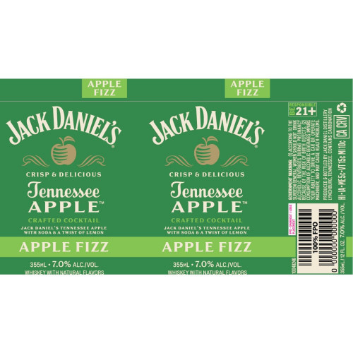Jack Daniels 4Pk Apple Fizz 12oz. Cans