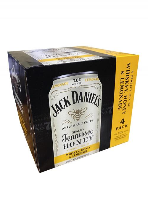 Jack Daniels 4Pk Whiskey, Honey & Lemonade 12oz. Cans