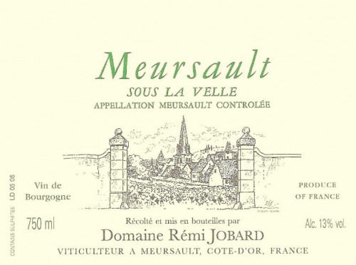 2018 Domaine Remi Jobard Meursault Sous La Velle 750ml