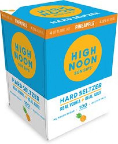 High Noon Sun Sips Pineapple Vodka & Soda 4Pk - 355ml Cans