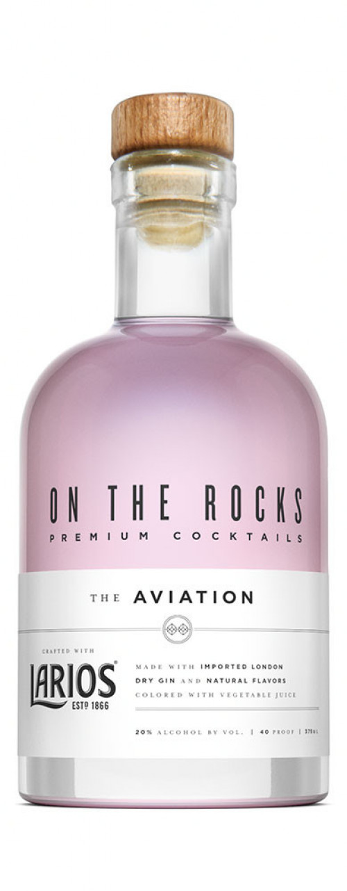 On The Rocks Aviation made with Larios Gin 375ml