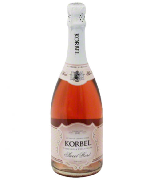 Korbel Sweet Rose California Champagne 750ml NV