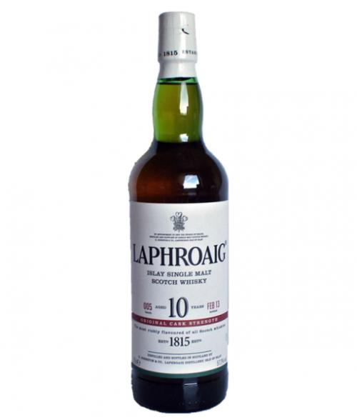 Laphroaig 10Yr Cask Strength Islay Single Malt Scotch Whisky 750ml