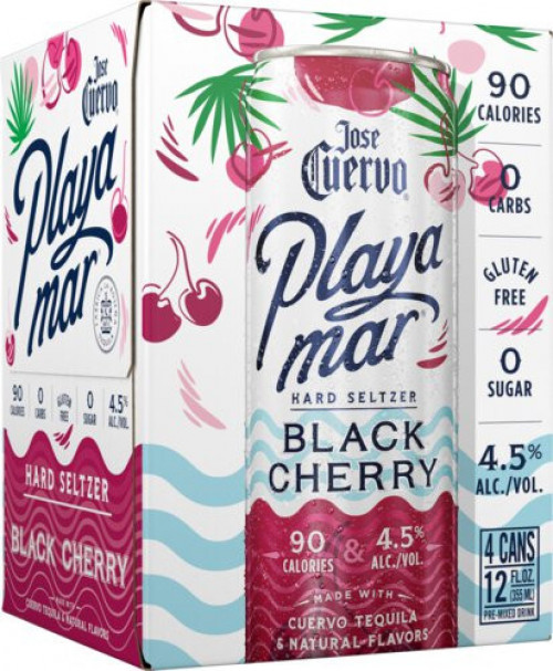 Jose Cuervo Playa Mar Black Cherry 4Pk - 12oz Cans