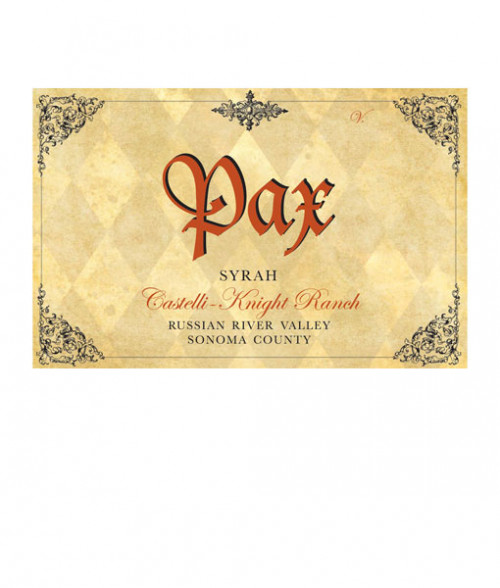 2015 Pax Syrah Russian River Castelli-Knight Ranch 750Ml