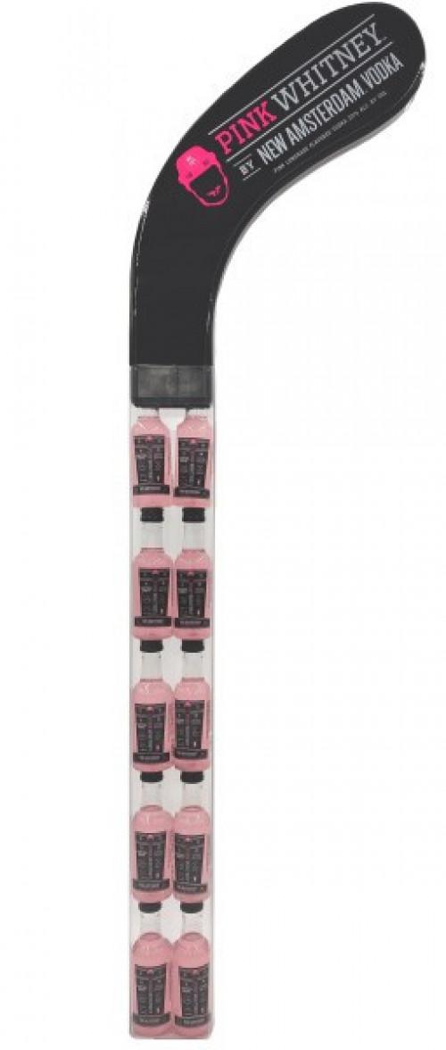 New Amsterdam Pink Whitney Vodka Hockey Stick 10pk - 50ml