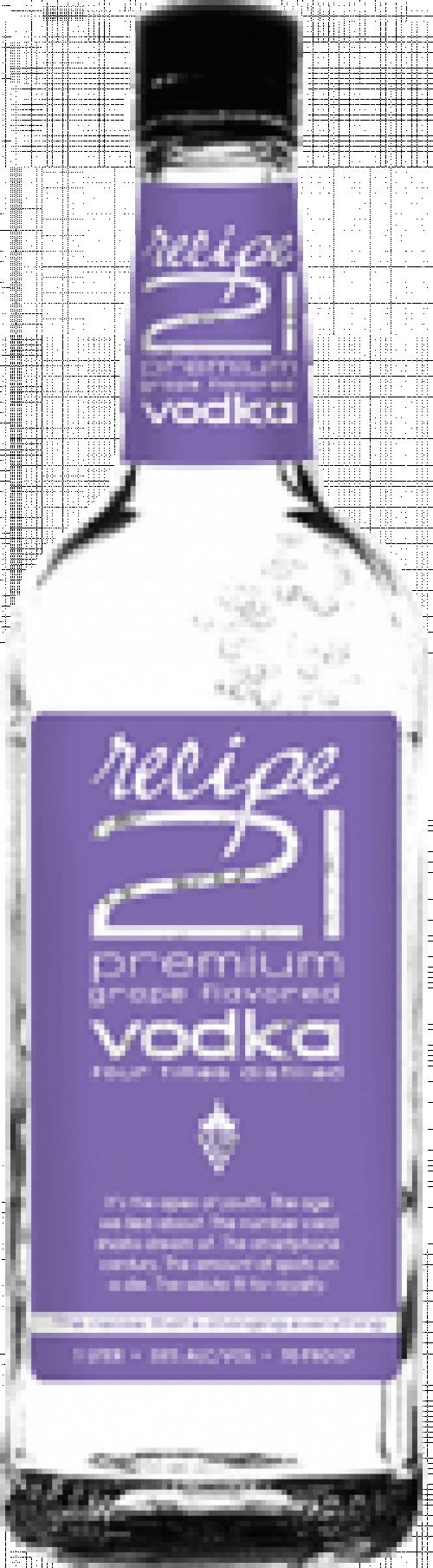 Recipe 21 Grape Vodka 1.75L