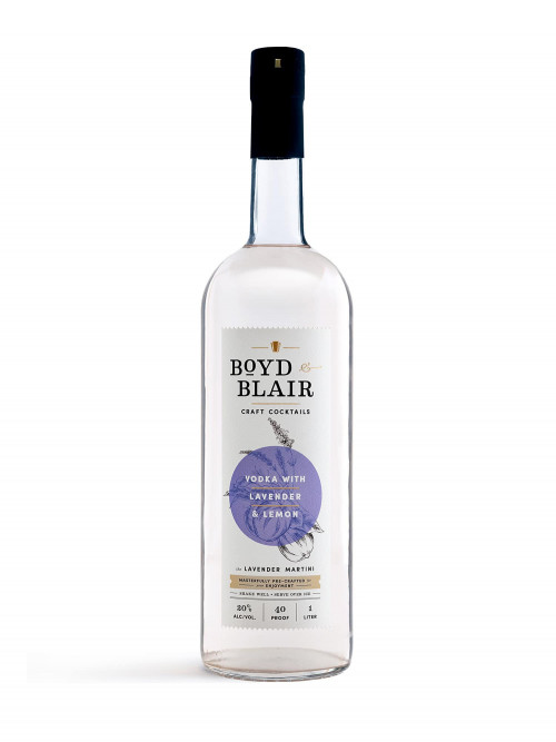 Boyd & Blair Lavender Martini Craft Cocktail 1L