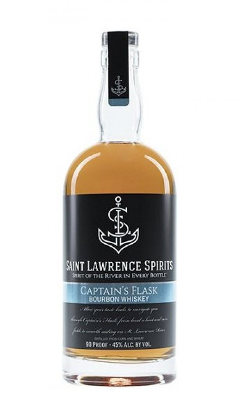 St Lawrence Bourbon Captains Flask 750ml