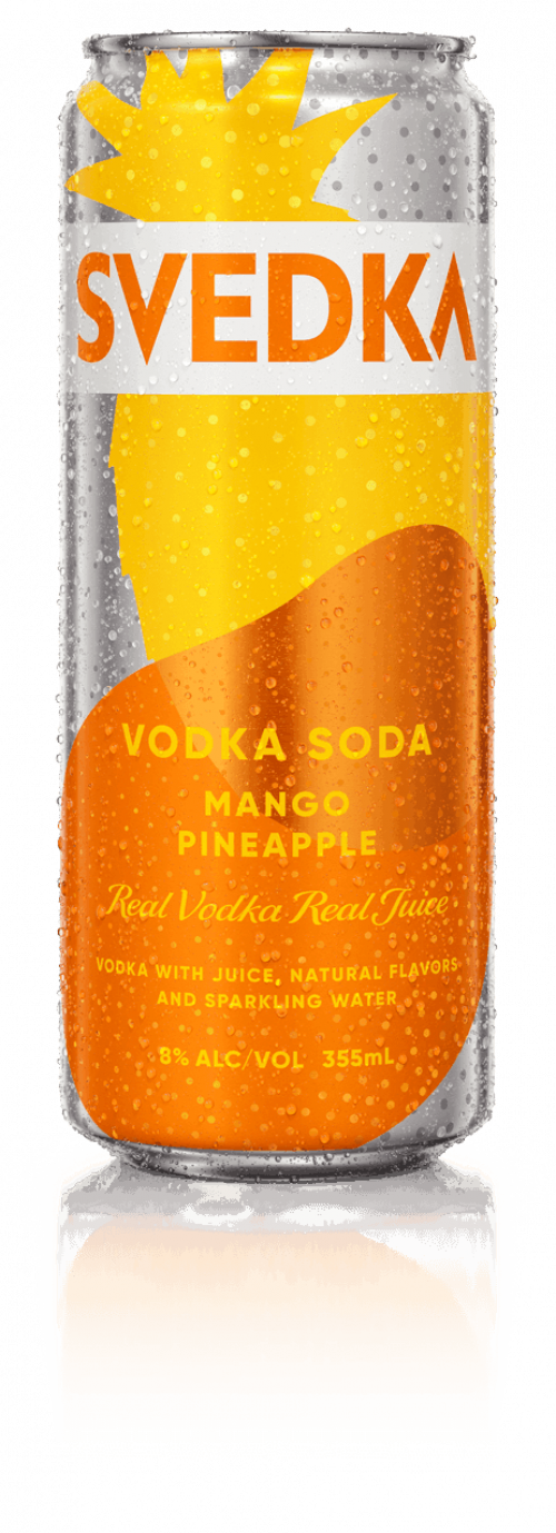 Svedka Mango/Pineapple Vodka Soda 4Pk-355ml Cans