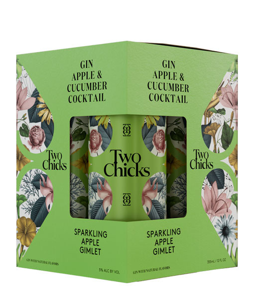 Two Chicks Sparkling Apple Gimlet 4Pk 355ml Cans